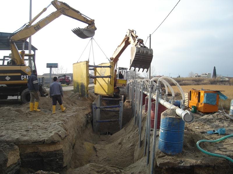 Επέκταση δικτύου αποχέτευσης ακαθάρτων Δ.Δ. Χρυσούπολης