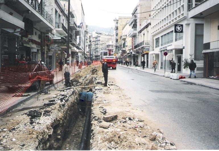 Αντικατάσταση δικτύου ύδρευσης Ομονοίας Καβάλας